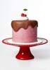 Pink Cake with Cherry