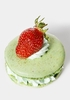 Mint Macarons with Strawberries