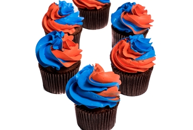 Red-and-blue Cupcakes