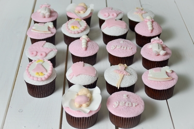 One Year Girl Cupcakes