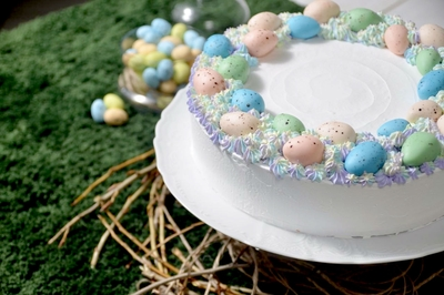 Easter Eggs Cream Cake