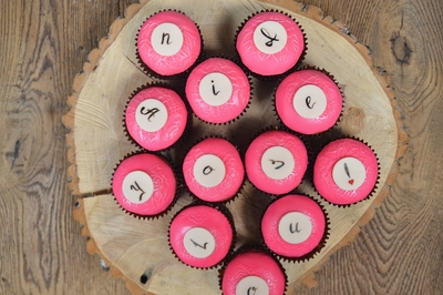 Letters Cupcakes