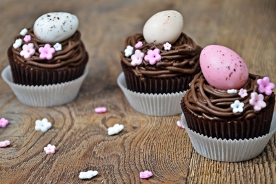 Easter Choco Cupcakes